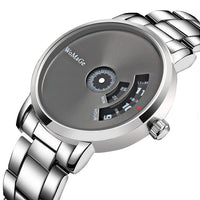 WoMaGe Stainless Steel Creative Men's Watch