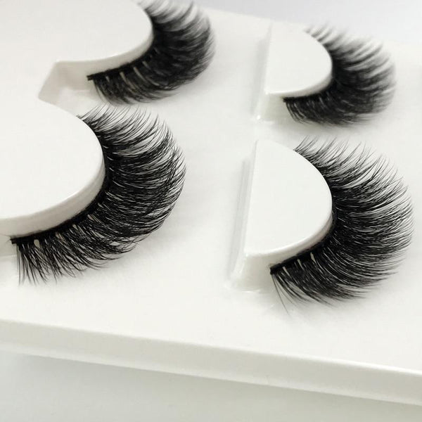 3 Pairs natural 3D eyelashes - UK Merchants