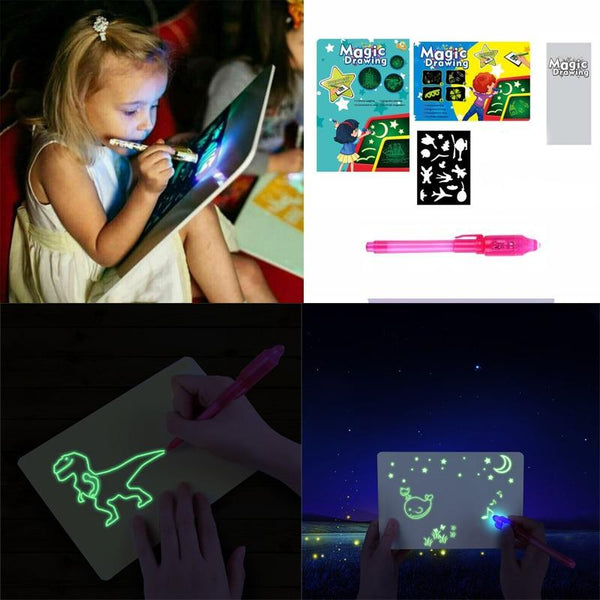 3D Neon Magic Glowing Drawing Pad N - UK Merchants