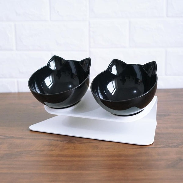 Single and Double Cat Bowl With Stand