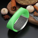 WORTHBUY Creative Stainless Steel Garlic Press Manual Garlic Chopper Crusher Ginger Press Kitchen Accessories Vegetable Tools - UK Merchants
