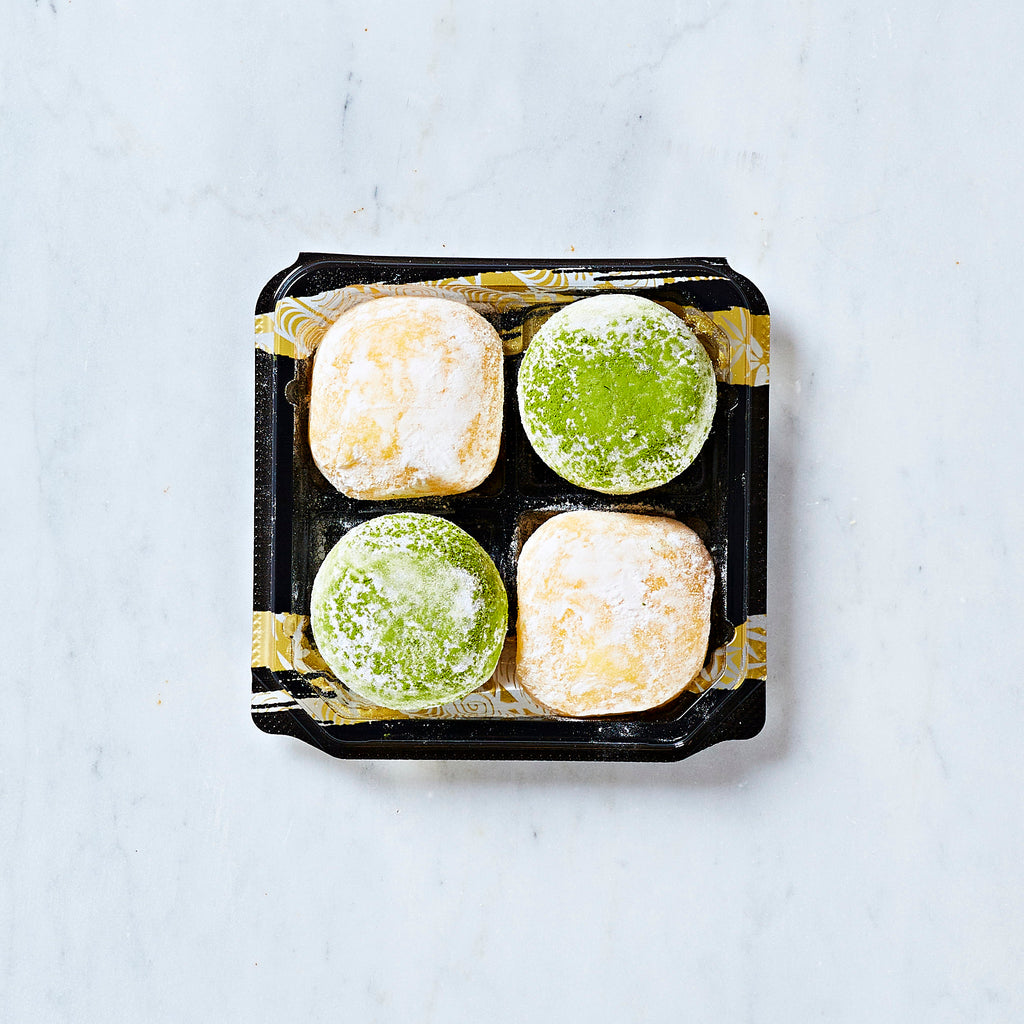 Ichiba Bakery Mochi Rice Cake Assortment - Mango and Green Tea, 4 pieces, 160 G