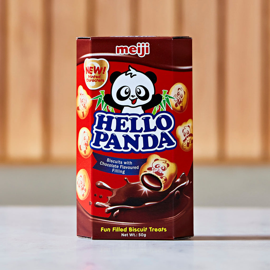 Meiji Hello Panda Chocolate Cream Biscuits, 50 g