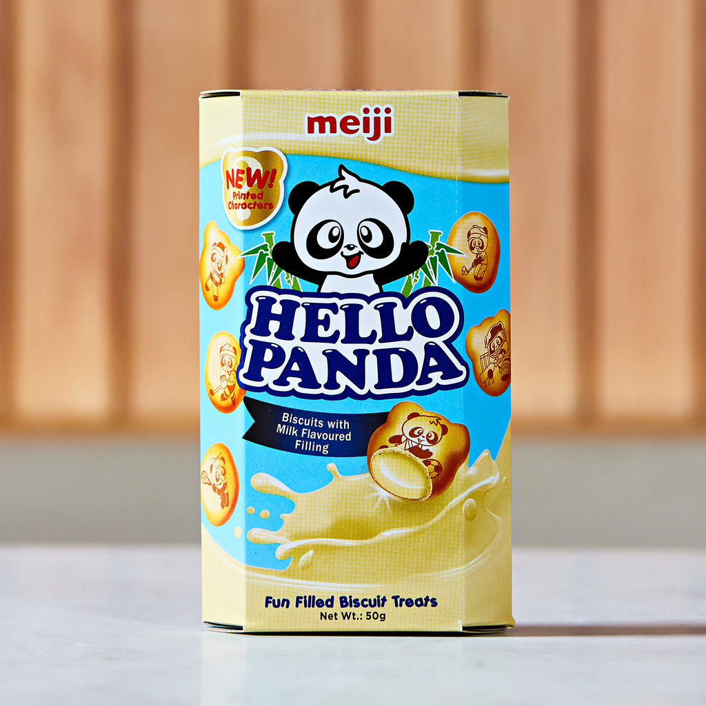 Meiji Hello Panda Milk Cream Biscuits, 50 g