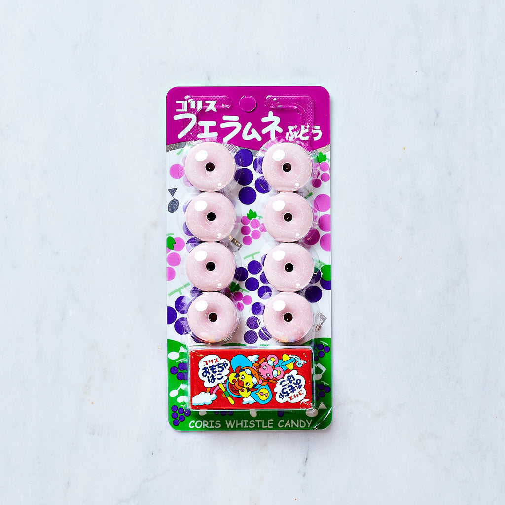 Coris Fue Ramune Grape Whistle Candy, 21 G