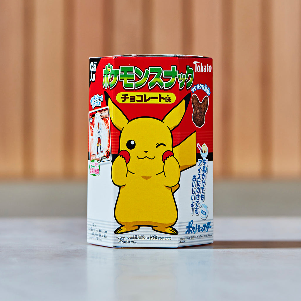Tohato Pokemon Chocolate Corn Puffs, 23 g