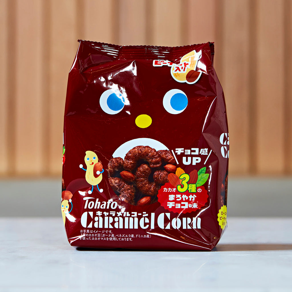 TOHATO Caramel Corn 3 Cacao Variety Chocolate Flavoured Snacks 77g