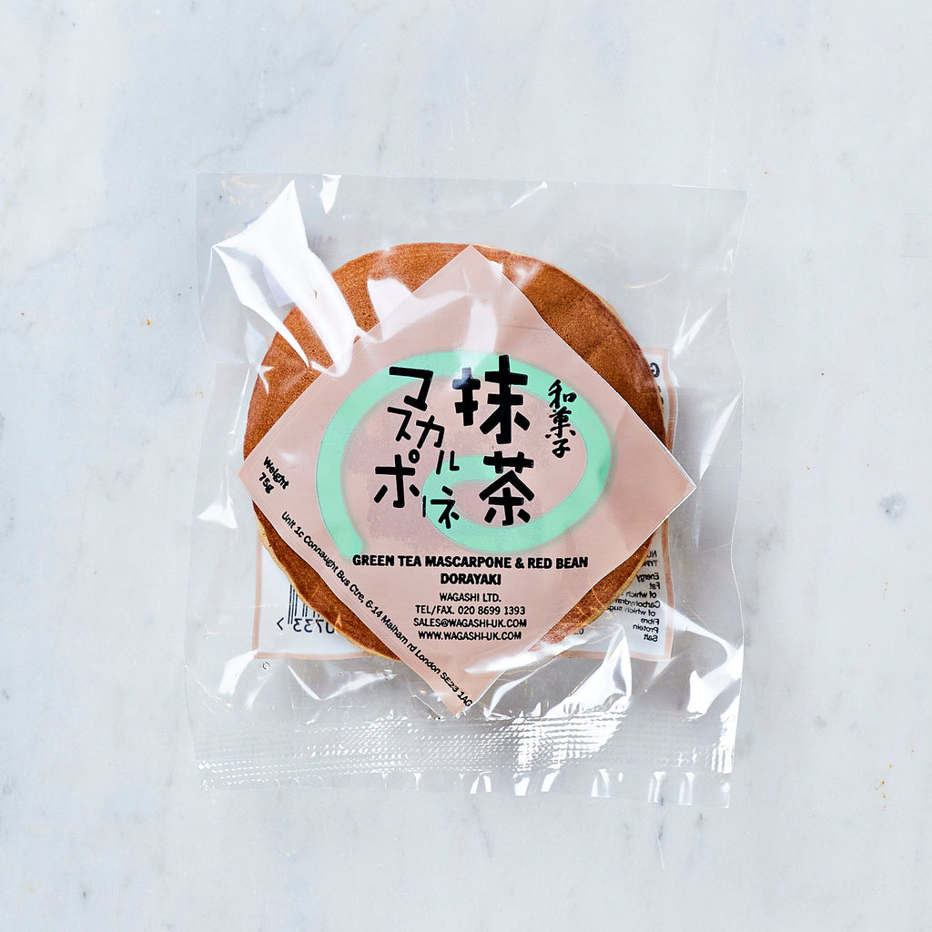 Wagashi Green Tea Mascarpone and Red Bean Dorayaki Pancake, 75 G