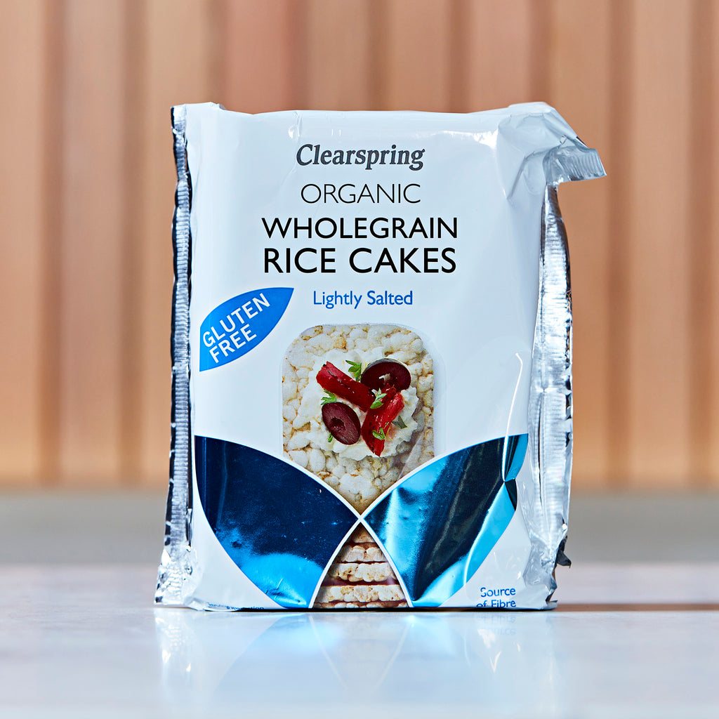 Clearspring Organic Gluten Free Rice Cakes - Lightly Salted, 130g