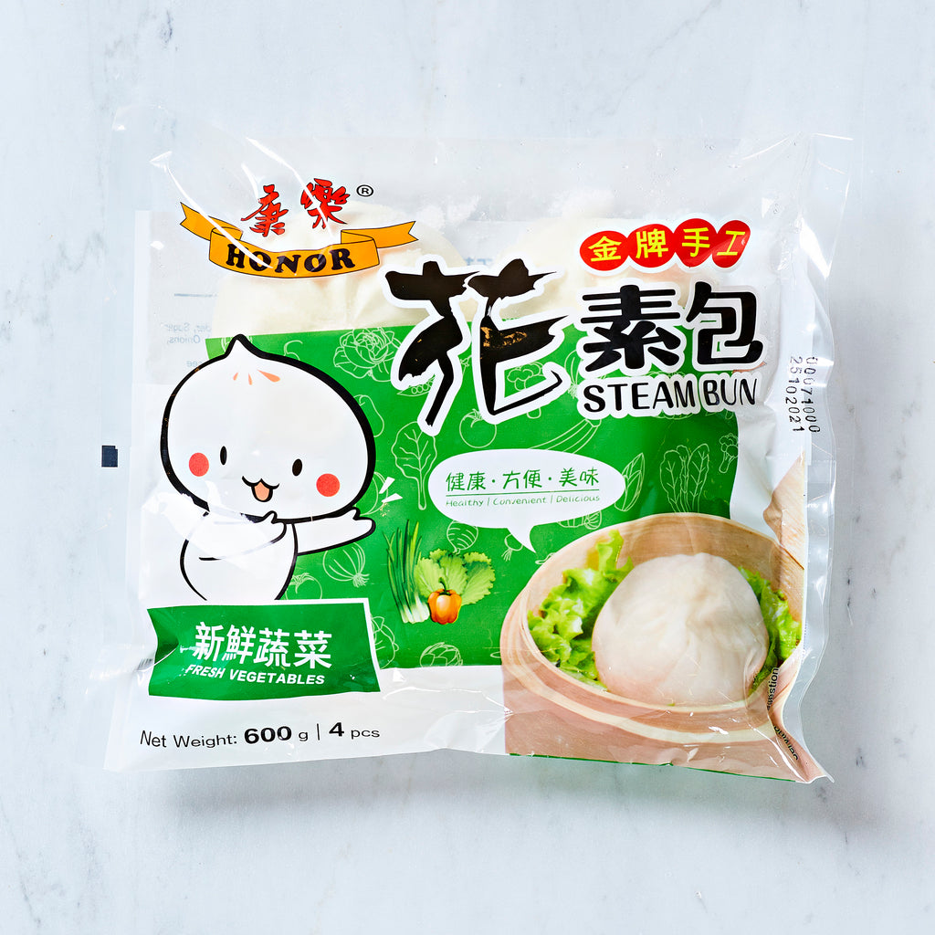 HONOR HANDMADE BAO BUNS - FRESH VEGETABLES, 4 PIECES, 600 G