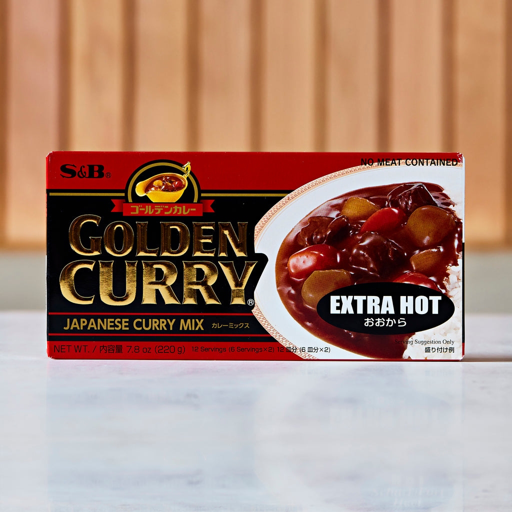 S&B Golden Curry Roux, Extra Hot, 12 servings, 220 G