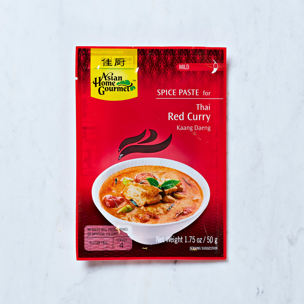 Asian Home Gourmet Spice Paste For Thai Red Curry, 50 G