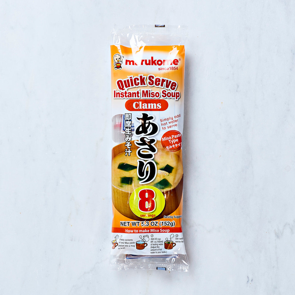 Marukome Quick Serve Instant Clam Miso Soup, 8 servings, 152 G