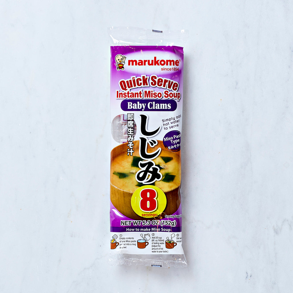 Marukome Quick Serve Instant Baby Clams Miso Soup, 8 servings, 152 G