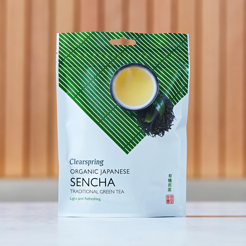 Clearspring Organic Japanese Sencha Traditional Green Tea, 90g