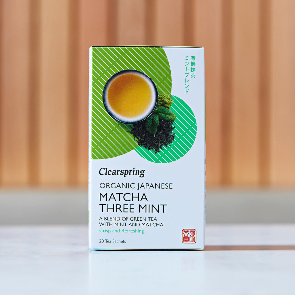 Clearspring Organic Japanese Matcha Three Mint Green Tea, 20 Tea Sachets, 36g