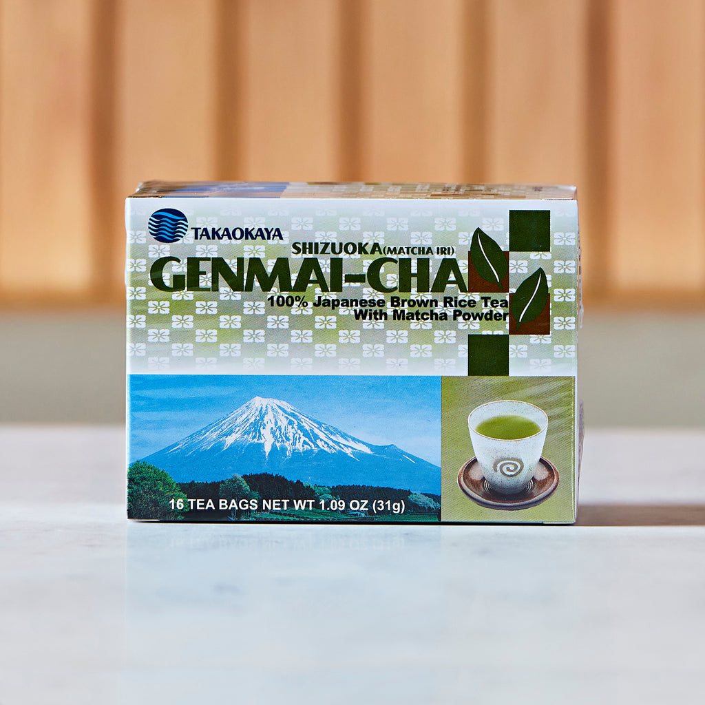 Takaokaya Genmaicha Green Tea With Brown Rice, 16 tea bags, 31 G
