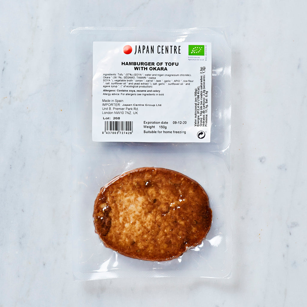 Japan Centre Vegan Tofu Hamburger with Okara, 2 burgers, 150 G