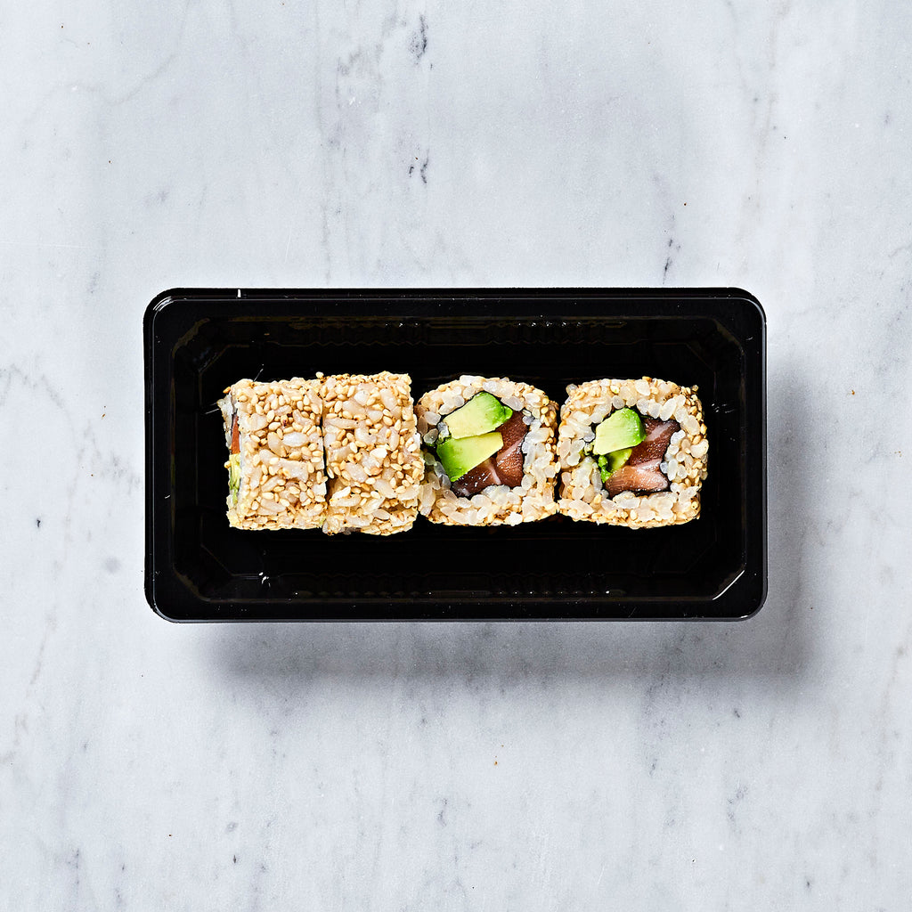 ICHIBA KITCHEN BROWN RICE SESAME SALMON AND AVOCADO ROLL