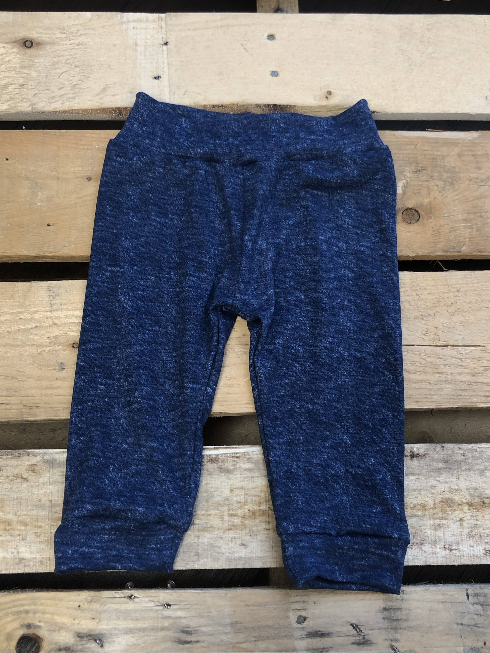Faux Denim Joggers