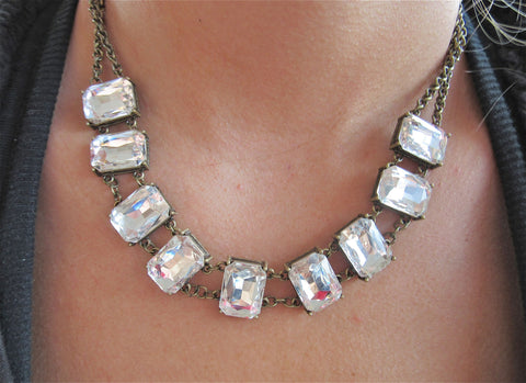 CLAUDIA rhinestone necklace