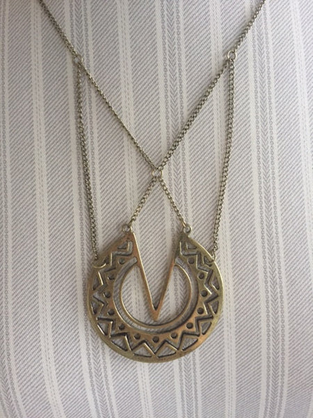 DANNIKA necklace in worn gold
