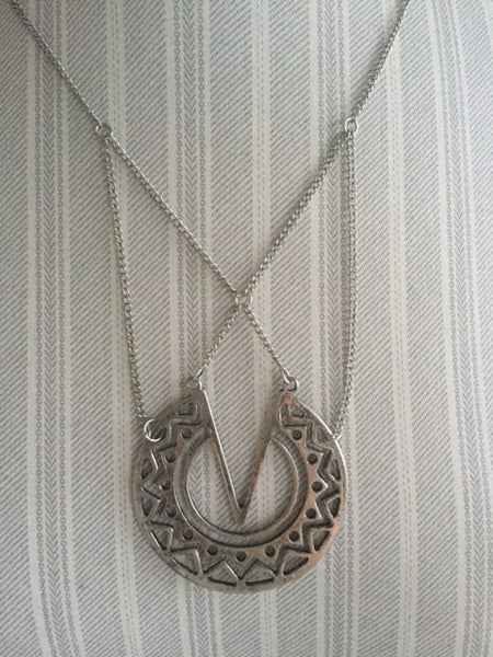 DANNIKA necklace in worn silver