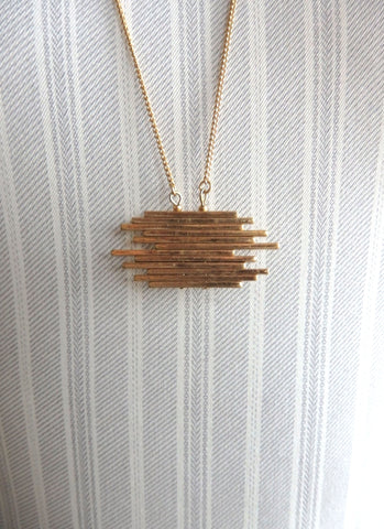 GOLD STACKS necklace