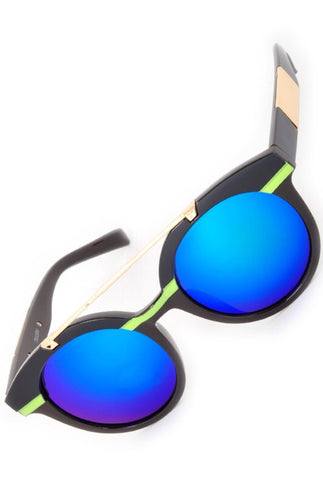 ANKA sunnies || blue mirror