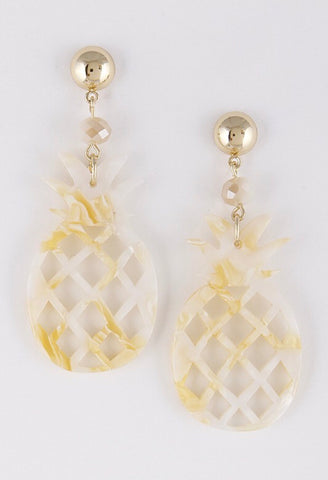 PINEAPPLE earrings || golden marble