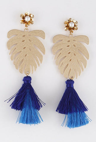 LEAF IT earrings || blue