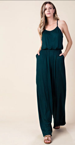 RANDY jumpsuit || hunter green