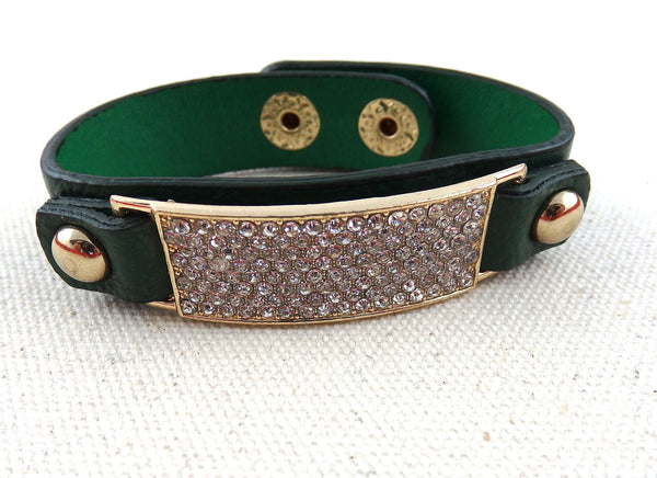FIONA emerald leather bracelet