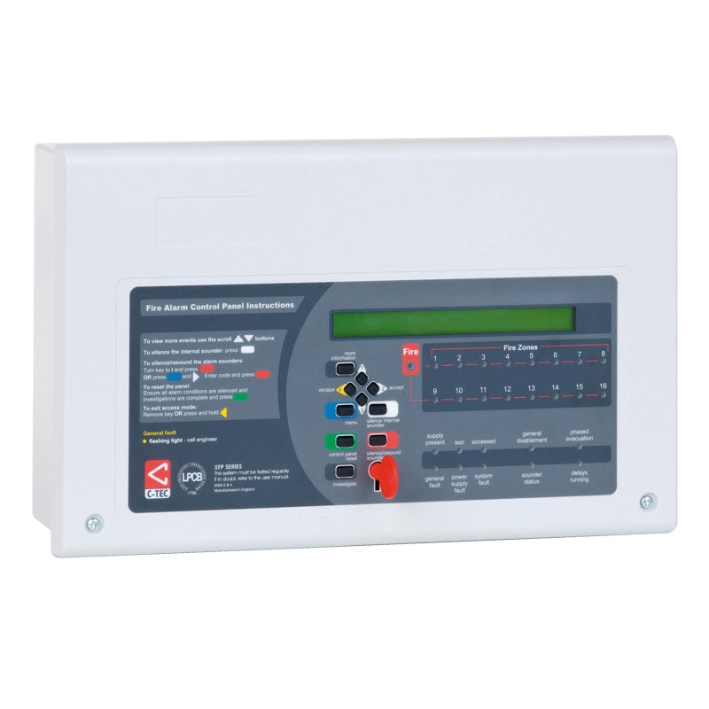 XFP 16 Zone Repeater Panel (all protocols)  Part No. XFP510-16