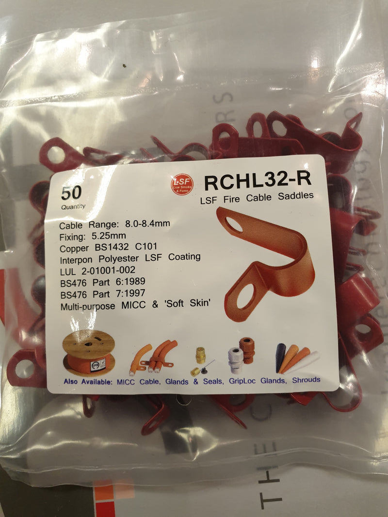 Cable Accessory P Clips Red. RCHL32-R