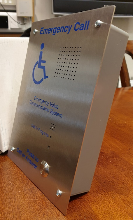 Disabled Refuge System Sigtel Brushed Stainless Steel Disabled Refuge Outstation, flush
