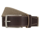 LLOYD Men's Belts − Gürtel - Herrengürtel - Stretchgürtel - Beige
