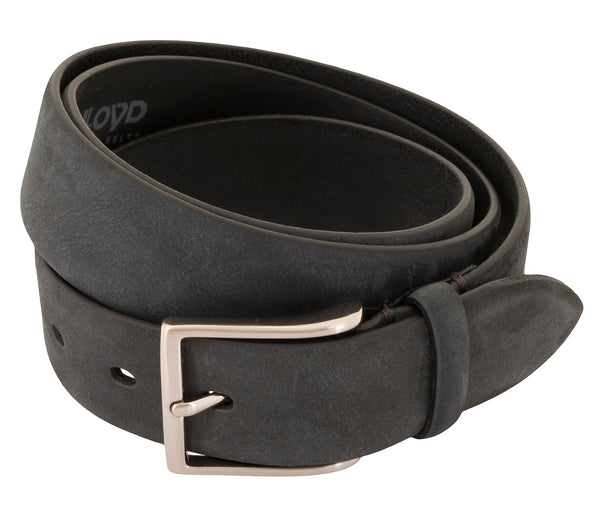 LLOYD Men's Belts − Gürtel - Herrengürtel - Vollrindleder - Anthrazit/Grau