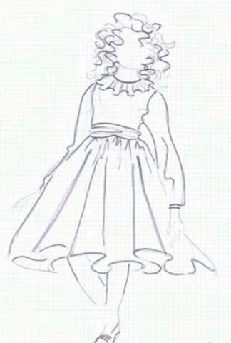 Coolibah Clothing Australia Dress Sketch