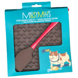 Messy Mutts 8 inch x 8 inch  Feeder Mat with Spatula