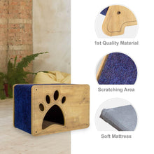 Load image into Gallery viewer, Petguin Cat House and Cat Scratcher