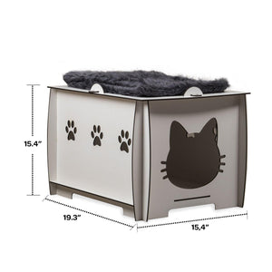 Petguin Indoor Wooden Cat House