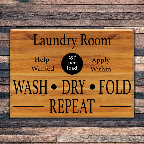 Laundry Room Help Wanted