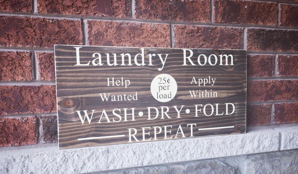laundry room sign house home