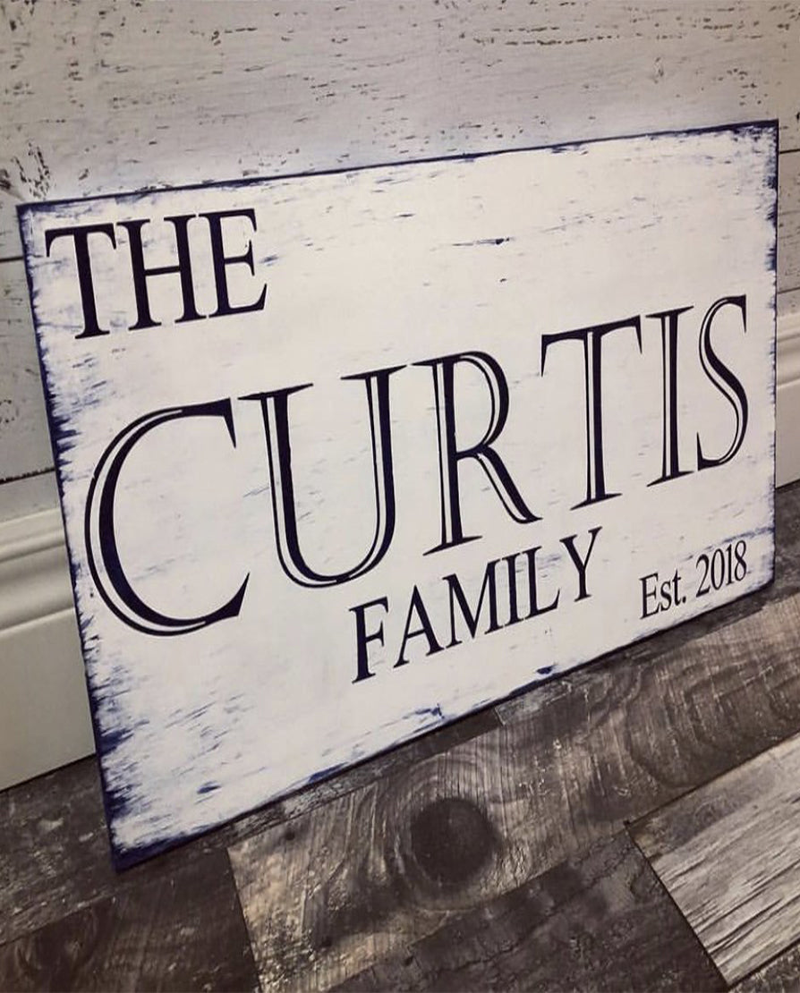 The Classic Rustic Family Sign