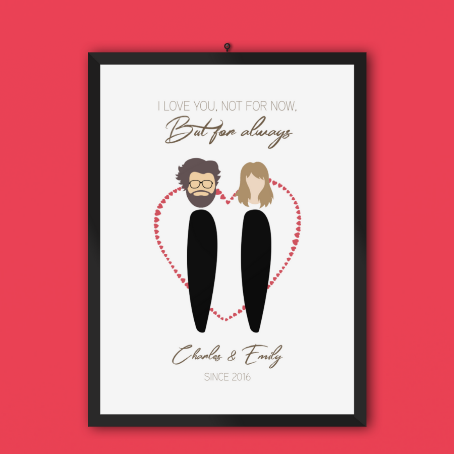 FamFig™ Personalized Couples Poster