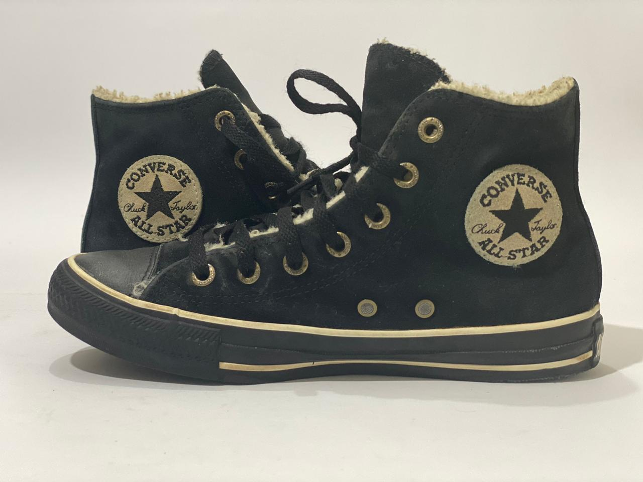 All Star Chuck Taylor Black Suede high Top, Size US#6.5 UK#6.5, PAK# 39