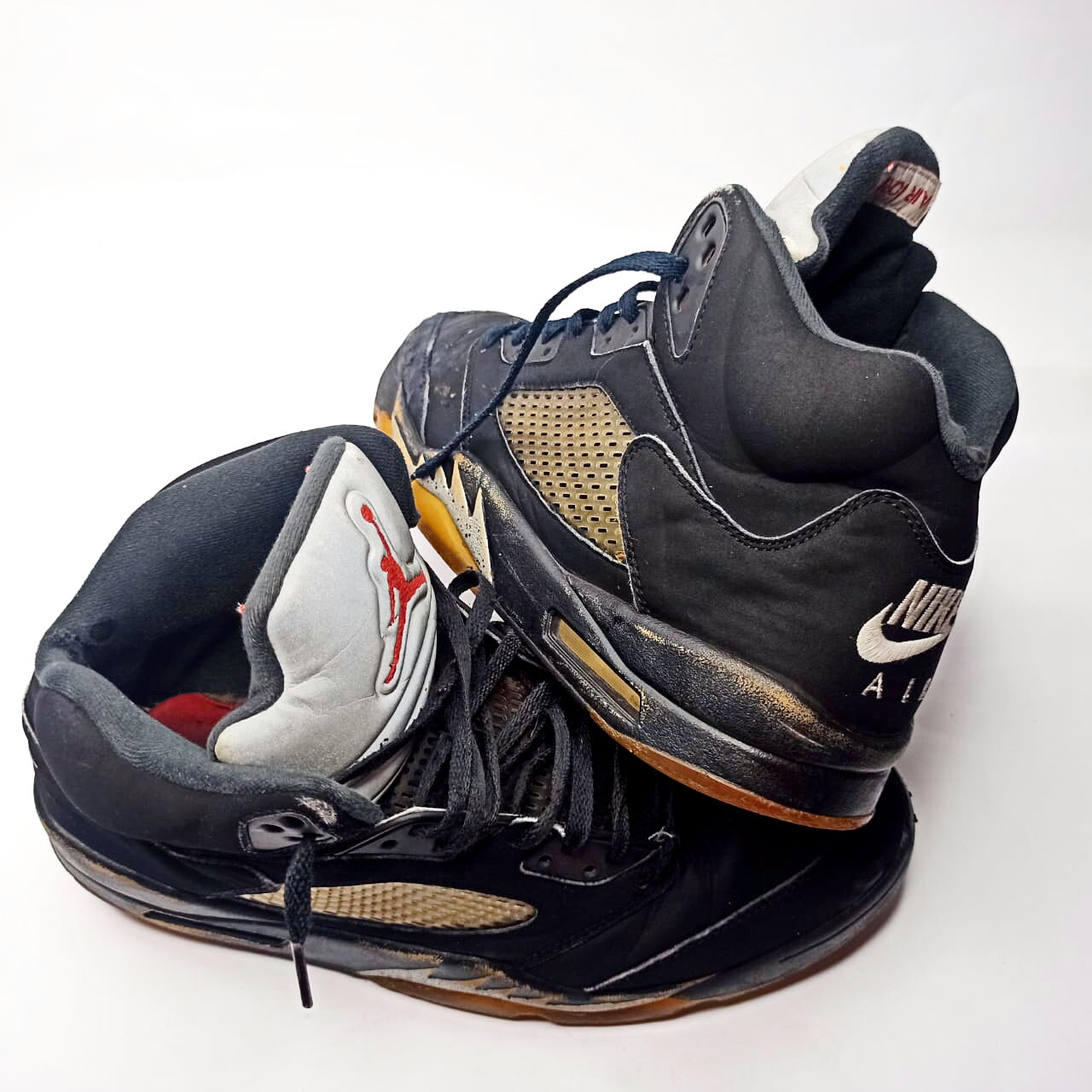 Nike Air Jordan 5 retro Black Metallic. Size U.S.# 12-UK# 11- PAK# 46