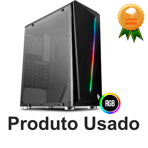 Pc Gamer Rgb Core2duo E8500 8gb Ddr2 Ssd120gb R5 240 Wifi