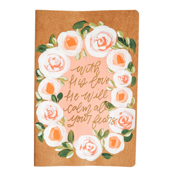 He Will Call All Your Fears Hand Painted Journal